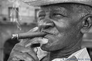 Enjoying Cuba's Finest © David Steel