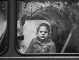Young Girl on a London Bus